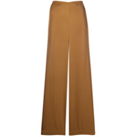 Vince Calça Pantalona Cintura Alta - Marrom