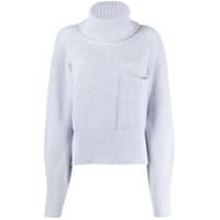 Ssheena Oversized Roll-Neck Sweater - Azul