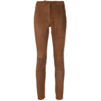 Loewe Calça Skinny De Camurça - Marrom
