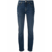 7 For All Mankind Calça Jeans Slim Com Cintura Alta - Azul