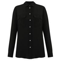 Le Lis Blanc Camisa de seda - Preto