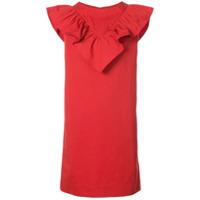Atlantique Ascoli Vestido Com Babado - Vermelho