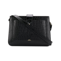 A.p.c. Crocodile-Embossed Crossbody Bag - Black