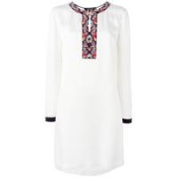 Etro Vestido Tubinho De Seda - Branco