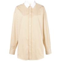 Melampo Camisa Com Gola Contrastante - Branco