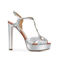 Francesco Russo Platform T-Bar Sandals - Cinza