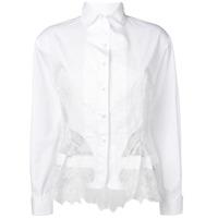 Ermanno Scervino Camisa Com Recorte De Renda - Branco