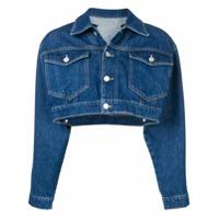 Chiara Ferragni Cropped Denim Jacket - Azul