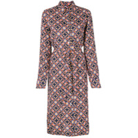 A.p.c. Floral Print Shirt Dress - Azul