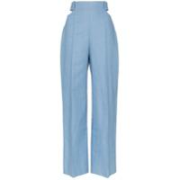 Michael Lo Sordo Calça Pantalona Com Recortes - Azul