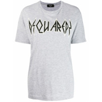 Dsquared2 Camiseta Com Estampa De Logo - Cinza