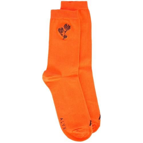 Imagem de 1017 Alyx 9SM Par de meias com bordado - Laranja