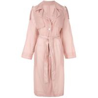 Blueflag + Kiminori Morishita Trench Coat Com Abotoamento Simples - Rosa
