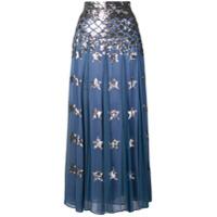 Temperley London Saia Starlet - Azul