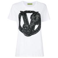 Versace Jeans Camiseta Com Aplicação - Branco