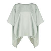 The Celect Camiseta Oversized Assimétrica - Cinza