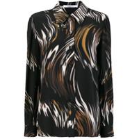 Givenchy Camisa De Seda Estampada - Preto