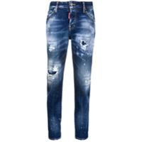 Dsquared2 Calça Jeans Com Destroyed - Azul
