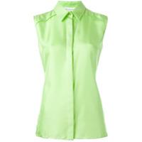 Maison Margiela Camisa De Seda - Verde