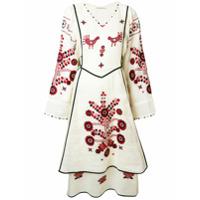 Vita Kin Vestido De Linho Floral - Branco