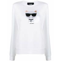 Karl Lagerfeld Moletom Ikonik Choupette - Branco
