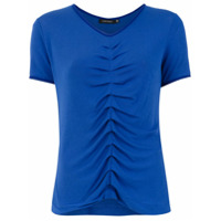 Corporeum T-Shirt Com Pregas De Tricô - Azul