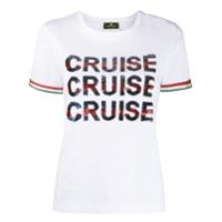Elisabetta Franchi Camiseta Com Aplicação De Paetês - Branco