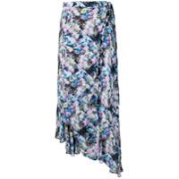 Preen Line Saia Assimétrica Floral - Azul