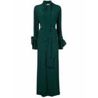 Layeur Vestido Longo Com Cinto - Verde