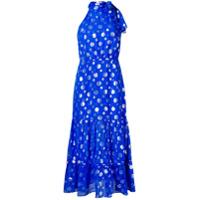 Rixo London Vestido Midi De Seda 'elanor' - Azul