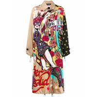 Dolce & Gabbana Trench Coat Com Estampa - Preto