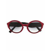 Valentino Eyewear Óculos De Sol Redondo - Vermelho