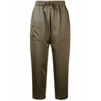 Brunello Cucinelli Loose Cropped Trousers - Green