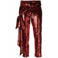 Hellessy Calça Com Paetês - Vermelho