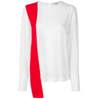Stella Mccartney Blusa De Seda Com Contraste - Branco