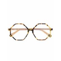 Chloé Eyewear Óculos De Sol Octogonal - Amarelo