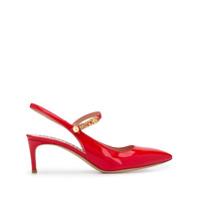 Moschino Sapato Bico Fino Com Logo - Vermelho
