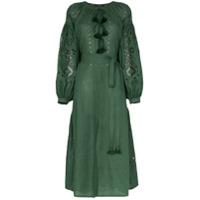 Vita Kin Vestido 'cherry Blossom' De Linho - Green