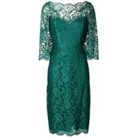 Rhea Costa Vestido Midi De Renda Floral - Verde