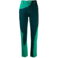 Eckhaus Latta Calça Jeans Skinny Bicolor - Azul