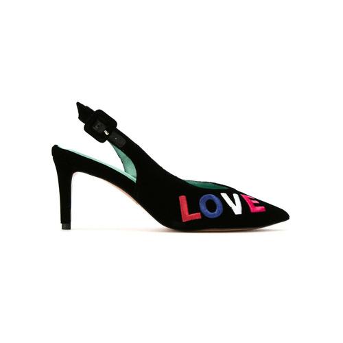 Imagem de Blue Bird Shoes Scarpin sling-back 'Diana Love' - Preto