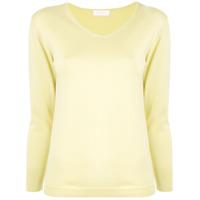 Ballsey Blusa De Tricô Com Decote V - Amarelo