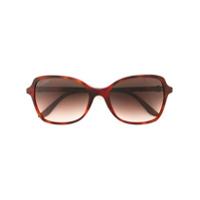 Cartier Óculos De Sol 'double C Decor' - Marrom