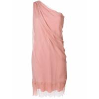 Alberta Ferretti Vestido Assimétrico - Rosa