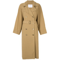 Blueflag + Kiminori Morishita Trench Coat Com Cinto - Marrom