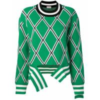 Mrz Suéter Com Estampa Geométrica - Green
