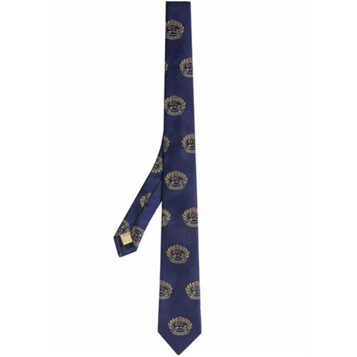 Imagem de Burberry Gravata slim de seda - Azul