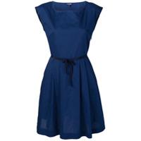 Woolrich Vestido Com Amarração Na Cintura - Azul
