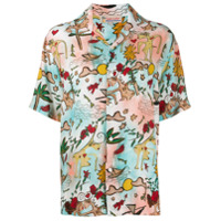 Esteban Cortazar Love Print Shirt - Rosa