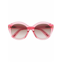 Tom Ford Eyewear Óculos De Sol Arredondado - Rosa